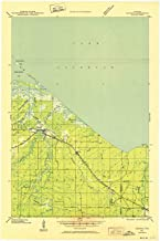 YellowMaps Odanah WI topo map, 1:48000 Scale, 15 X 15 Minute, Historical, 1943, Updated 1952, 27.5 x 18.31 in