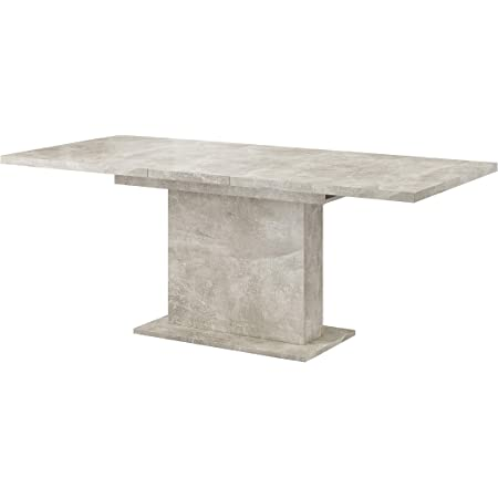 Tendencio Table Rectangle Extensible + allonge GLIANT 160-200 cm (Gris)