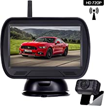 Amtifo HD Digital Wireless Backup Camera System with 4.3'' Monitor for Pickups,Trucks,Cars,SUVs,Vans,Campers,Adjustable Rear/Front View Camera,Guide Lines On/Off,IP69 Waterproof
