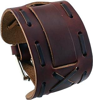 ネメシス# wx13-bb Wideダークブラウン革カフ腕時計バンド
