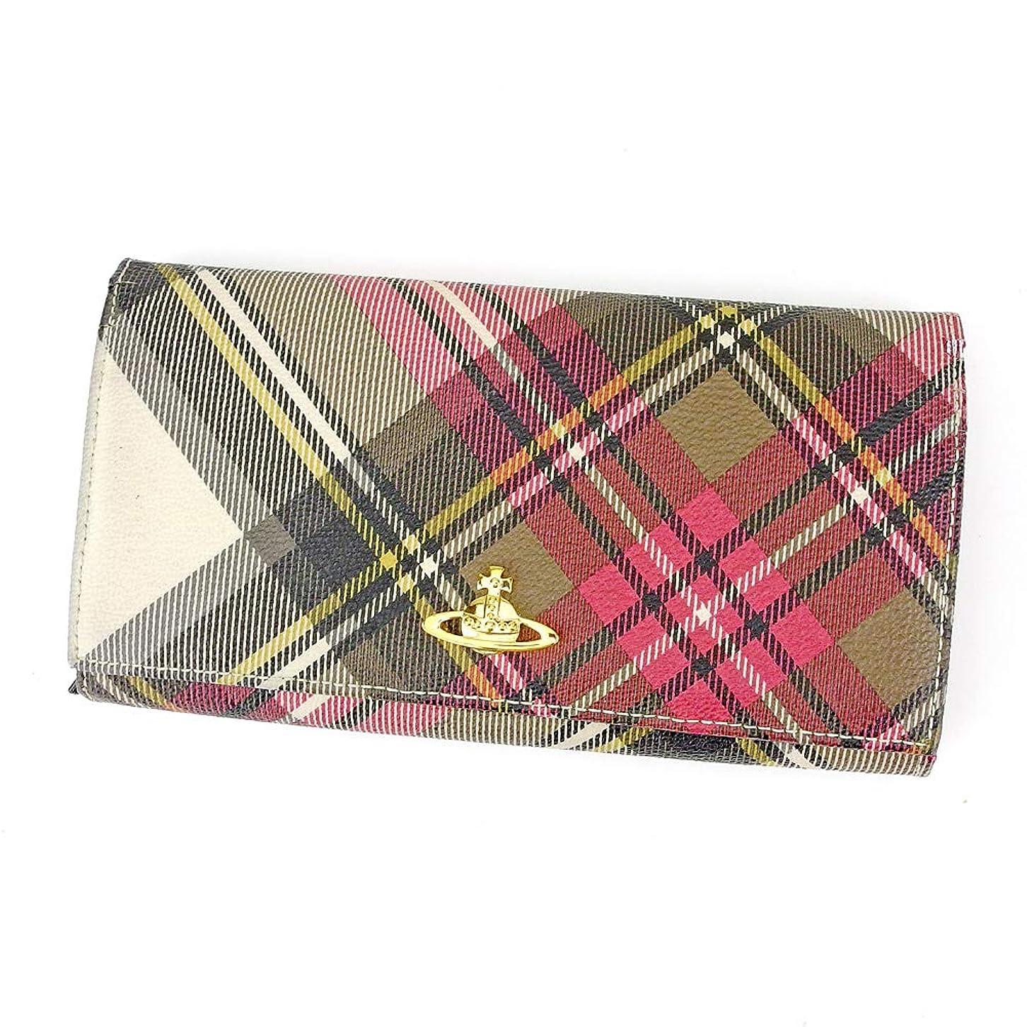 半径のスコアポップヴィヴィアン ウエストウッド Vivienne Westwood 長財布 ラウンドファスナー 財布 レディース メンズ ニューエキシビジョン ダービー 中古 P941