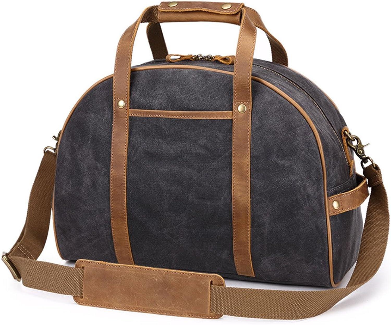 Sturdy Travel Handbag Female Hand Shopping Lightweight Canvas Large Capacity Handbag Weekend Handbag Large Capacity (color   Black)