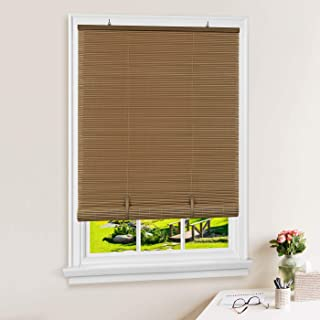 PowerSellerUSA Oval Cordless Blinds, Roll-Up Roman Shades for Windows and Doors, Light Filtering and Shades Privacy Window Treatment for Home - 36