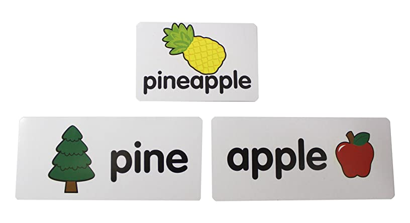 Compound Words Pocket Chart Card Puzzles - Language Arts Teacher Supply - Teacher Language Arts Supplies - Spelling Writing Activity