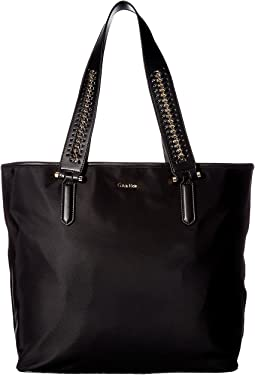 Florence Nylon Woven Chain Strap Tote