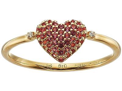 Michael Kors Sterling Silver Heart Ring (14K Gold Plating) Ring