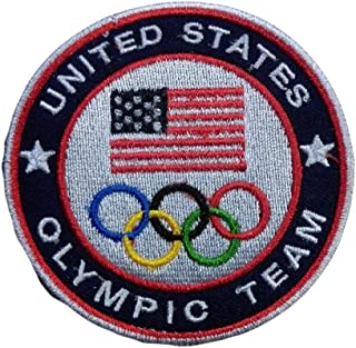 Classic 2019 Blue Olympic United States Team USA World Sports Champions Shirt Jersey Kit Embroidered Iron Sew On Patch Badge
