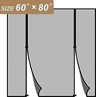 Magnetic Screen Door 60 x 80, Double Door Screen Curtain for Sliding Door Fit Doors Size Up to 60