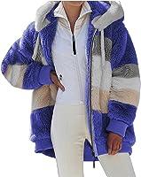 Womens Winter Loose Plush Long Sleeve Zipper Pocket Coat Zip Jacket Women Hooded Jackets for Women Plus Size