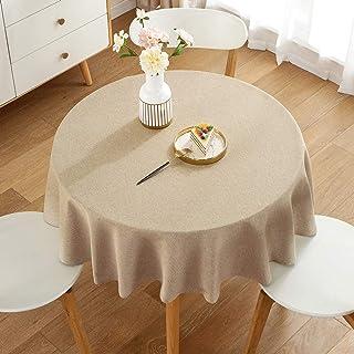 Pahajim Coton et Lin Nappe Couleur Unie Simple Moderne Nappe Lavable Cuisine de la Maison Dîner Nappe de Table Pique-Nique...