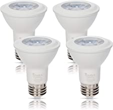 Simba Lighting LED PAR20 Light Bulb 6W 38deg Spotlight Dimmable (4-Pack) for Indoor Recessed Can, Range Hood and Outdoor P...