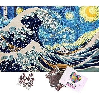 Wooden Jigsaw Puzzles 1000 PCS Ukiyoe Great Wave off Kanagawa Hokusai Art Decor