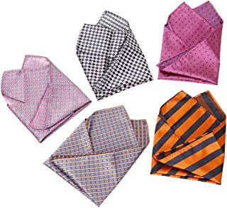 Blue and Pink Whale Tails Silk Pocket Square by American Pocket Square Company Pure Silk Giornelli Premium Quality for Men: Mr
