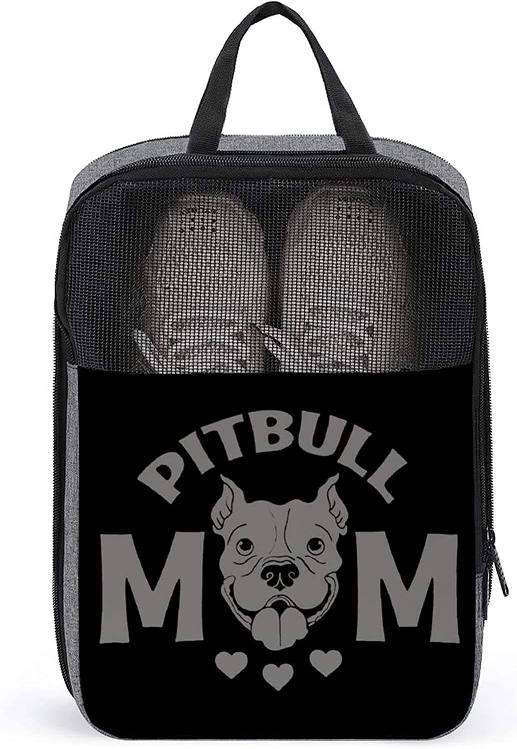 Pitbull 2021 autumn and winter new Mom Print Travel Shoes Storage Carrying Org online shop Bag slippers