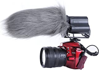Movo WS3 Furry Outdoor Microphone Windscreen Muff for Large Shotgun Microphones up to 7
