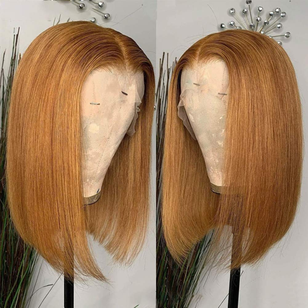 Ginger Color Free shipping Short Super Special SALE held Bob 13x1 T part Hair Human Wig Lace Front Pre