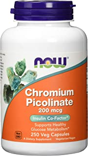 NOW Supplements, Chromium Picolinate 200 mcg, 250 Veg Capsules