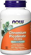 NOW Chromium Picolinate 200 mcg 250 Veg Capsules