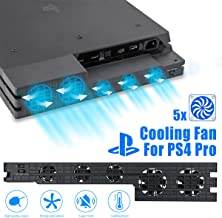 Linkstyle Cooling Fan for PS4 PRO, USB External Cooler 5 Fan Turbo Temperature Control..