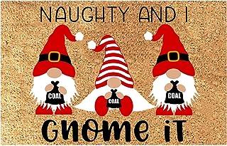 Doormat Winter Holiday Christmas Happy Snowman and Swedish Gnome Welcome Mats Doormats Non Slip Indoor/Outdoor/Front Door/...