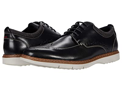 Stacy Adams Synergy Wing Tip Oxford (Black) Men