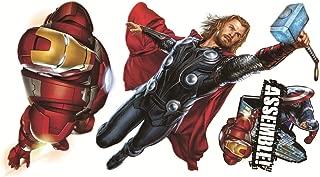 Marvel Superheroes Comic - The Avengers Movie - Captain America, Hulk, Iron Man, Thor, Hawkeye, Black Widow Wall Decal Sticker (Small)
