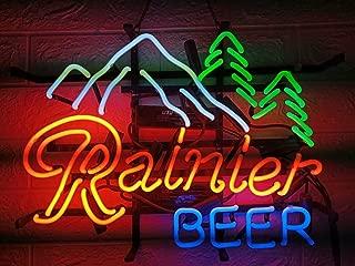 LDGJ Neon Signs for Wall Decor Handmade Sign Home Rainier Custom Beer Bar Pub Recreation Room Lights Windows Glass Party