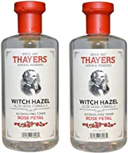 Thayers Alcohol-free Rose Petal Witch Hazel with Aloe Vera, 350ml (Pack of 2)