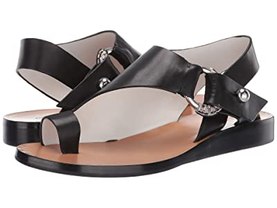 rag & bone Arc Flat Sandal (Black) Women