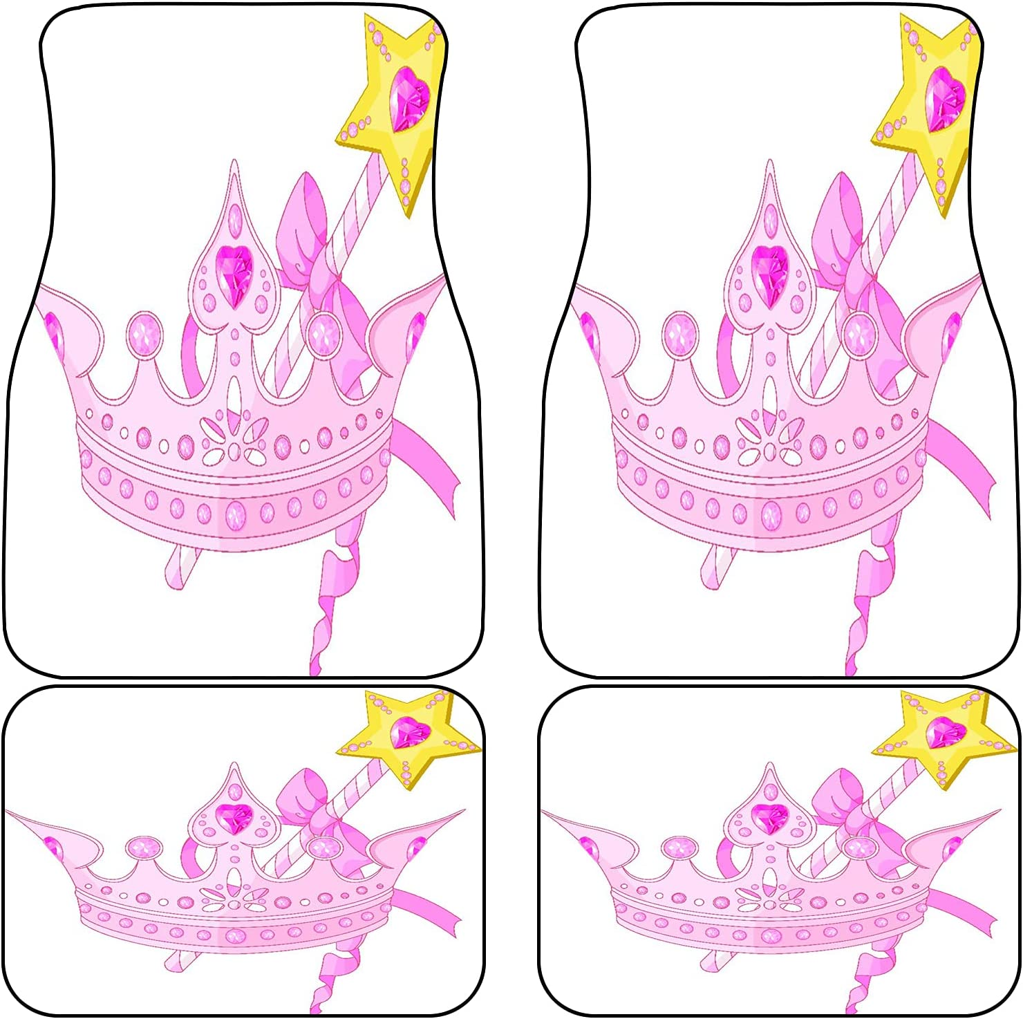 LONSANT Front Rear Car Mats Set of 2021 Oakland Mall Wand 4 and Magic Crown for