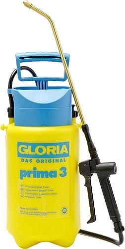 GLORIA Pulverizador a presión prima 3, Pulverizador de jardín, Capacidad de llenado 3 L, Boquilla de latón regulable,...