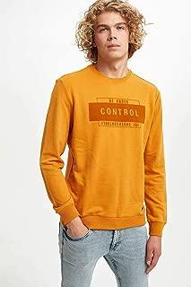 DeFacto Baskılı Slim Fit Sweatshirt