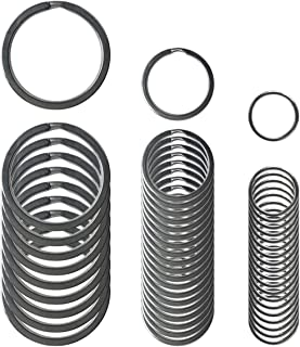 Small Key Chain Ring 50 PCS Metal Split Rings 10/20 / 30mm Stainless Steel Flat Rings Excellent Spring Retention 3 Sizes Keys Organization/Jewlery Making Findings