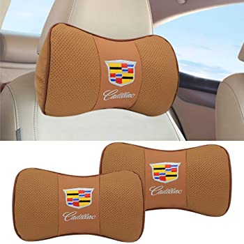 Auto Sport 2 PCS Genuine Leather Bone-Shaped Car Seat Pillow Neck Rest Headrest Comfortable Cushion Pad fit acura