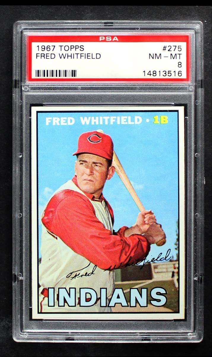 specialty shop 1967 Louisville-Jefferson County Mall Topps # 275 Fred Indians Baseball Whitfield Cleveland Card