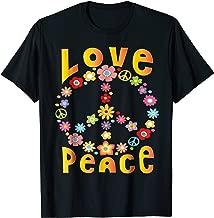 Hippie LOVE PEACE FREEDOM T-Shirt 60s 70s Tie Dye Shirt