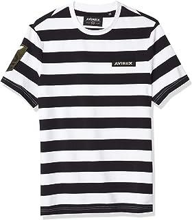 Avirex Men's Short Sleeve Striped Tee