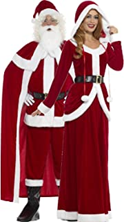 Couples Ladies and Mens Mr & Mrs Santa Claus Father Christmas Festive Xmas Grotto Fancy Dress Costumes Outfits