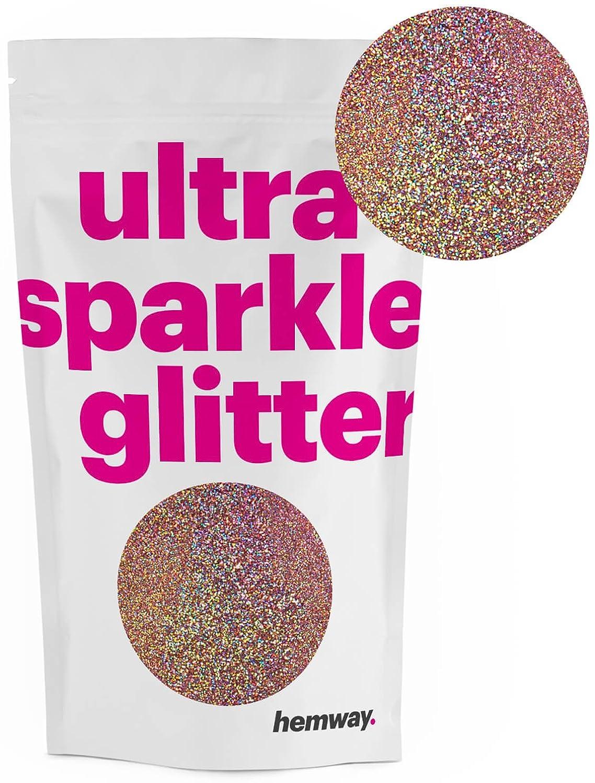 Hemway Rose Gold Holographic MICROFINE Premium Multi Purpose Glitter 1/256