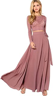Best long skirt with crop top party wear Reviews