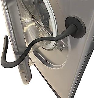 JAZBREY Frontlader-Waschtürstütze, magnetischer Waschmaschinentürhalter, Waschmaschinentür offen halten, Flexible Stütze für die meisten Waschmaschinen Schwarz