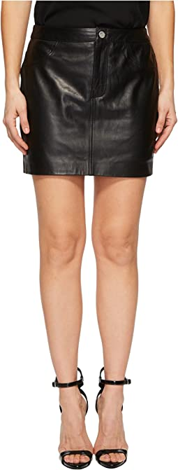 Melora Leather Skirt