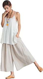 Women's Linen Cotton Casual Large Size Pants Plus Size Pant With Band Waist