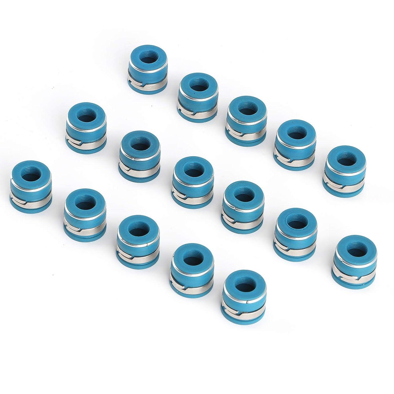 OFFicial Sale mail order Valve Stem Seals Set 16 Oil Fluororub Pcs