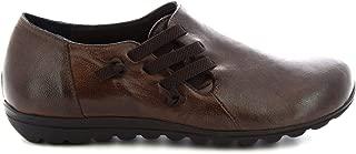 LEONARDO SHOES Luxury Fashion Womens 5385 Brown Lace-Up Shoes | Season Permanent