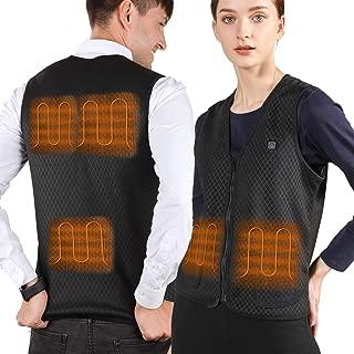 VALLEYWIND Men Heated Vest, USB Charging Electric Heated Jacket Washable Warm Waistcoat