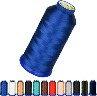 High Strength Polyester Thread Nylon Sewing Thread 1800 Yard Size 210D/3 T70#69 for Weaves, Upholstery, Jeans and Weaving ...
