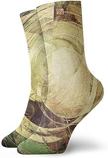 Pengyong - Calcetines de madera amarilla con textura, transpirables, transpirables, para correr, entrenamiento, deportes, caminar, para hombres y mujeres