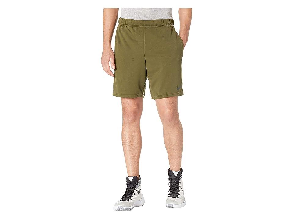 Nike Dry Fleece Hybrid Shorts (Olive Canvas/Black) Men