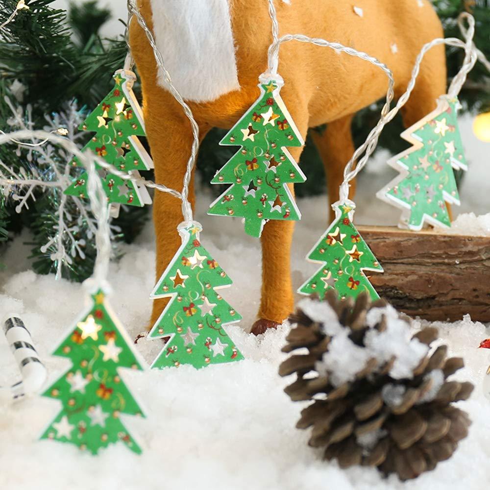 JUNMAONO Christmas Decoración, Iluminación de Navidad, Guirnalda Luces Navidad, Luces Arbol Aavidad, Navidad Decoraciones, Adornos Navideños,